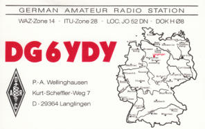 my first QSL-card (1985)